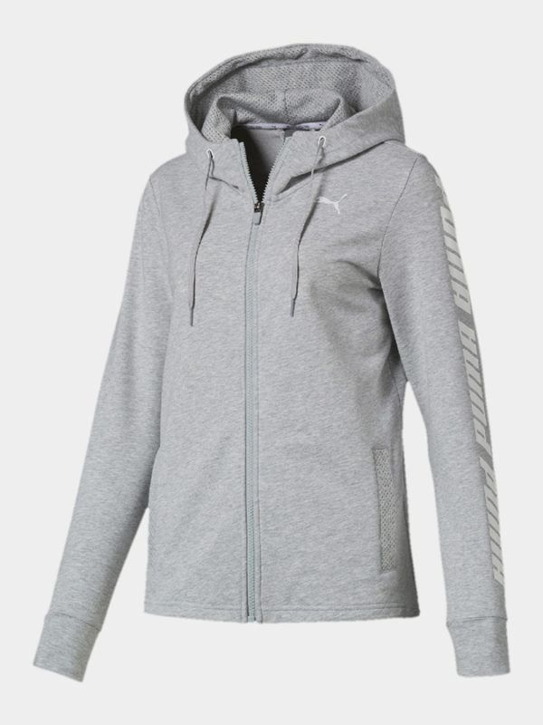 Mikina Puma Modern Sports Hooded Jacket Šedá