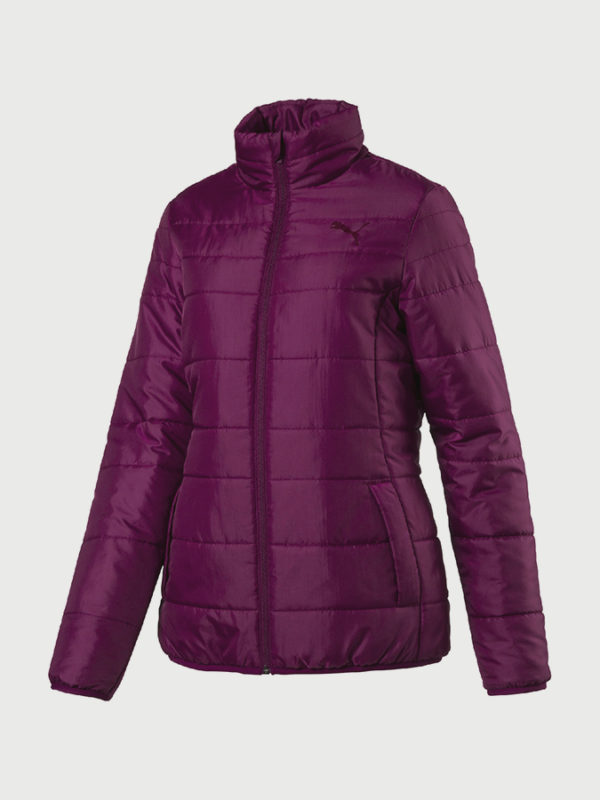Bunda Puma Essentials Padded Jacket W Dark Purple Fialová