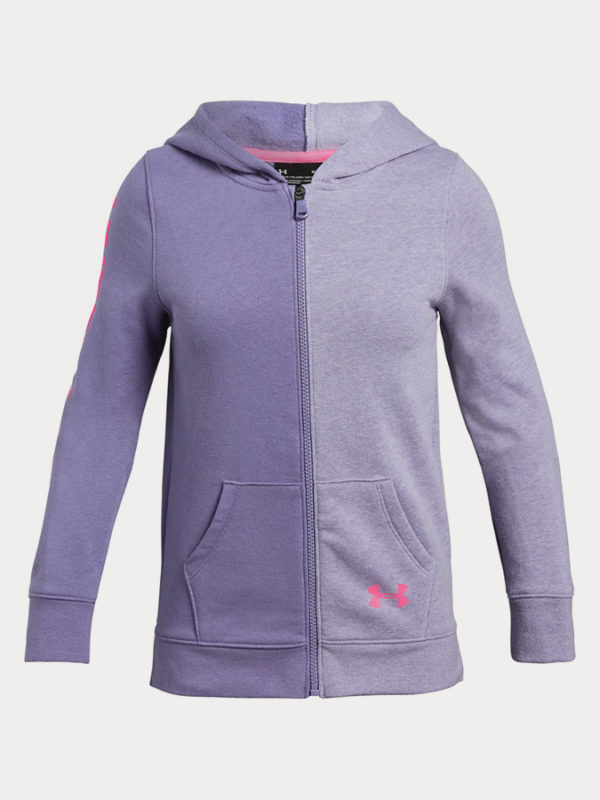 Mikina Under Armour Rival Full Zip Fialová