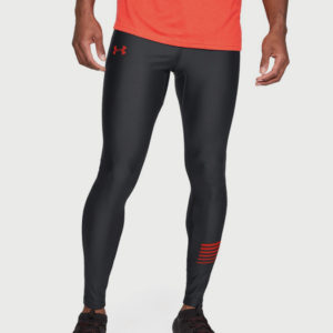 Kompresní legíny Under Armour Heatgear Run Graphic Tight Černá