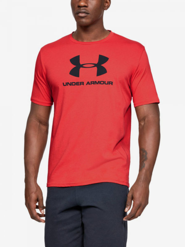 Tričko Under Armour Sportstyle Logo Ss-Red Červená