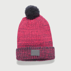 Čepice Under Armour Girls Shimmer Pom Beanie Růžová