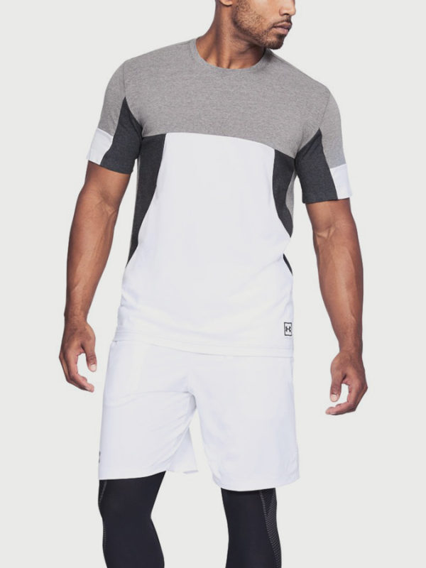 Tričko Under Armour Sportstyle Colorblock Tee Bílá