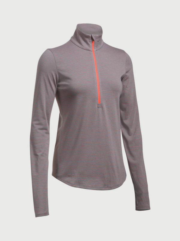 Mikina Under Armour Threadborne Streaker Half Zip Šedá