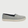 Boty Toms DRZL GREY LUREX WOVEN WM AVA SLIPON Šedá