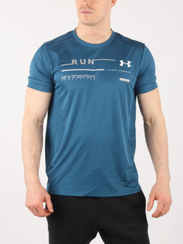 Tričko Under Armour Run Graphic Tee Modrá