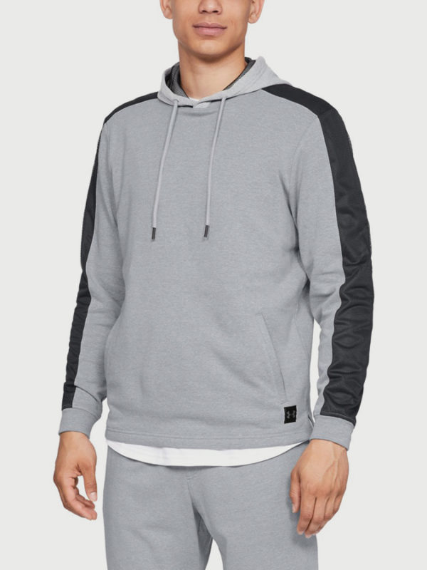 Mikina Under Armour Microthread Terry Po Hoodie Šedá