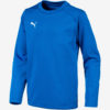 Mikina Puma Liga Training Sweat Jr Modrá