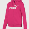 Mikina Puma Essentials Fleece Hooded Jkt Růžová