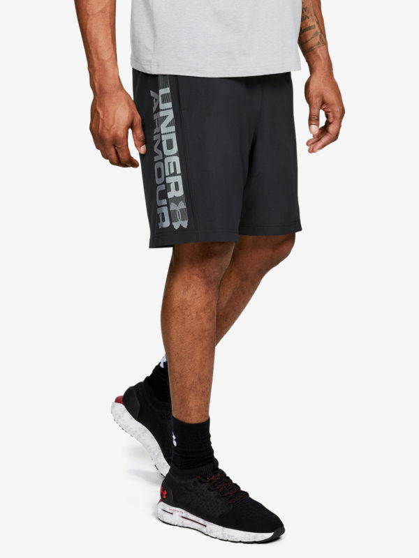 Kraťasy Under Armour Woven Graphic Wordmark Short Černá