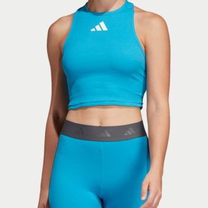 Crop Top adidas Performance Modrá