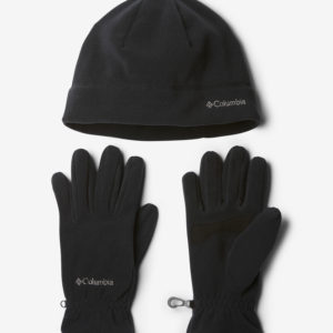 Čepice a rukavice Columbia Fast Trek Hat and Glove Set Černá