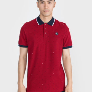 Aop Polo triko Jack & Jones Červená