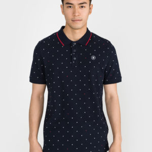Aop Polo triko Jack & Jones Modrá
